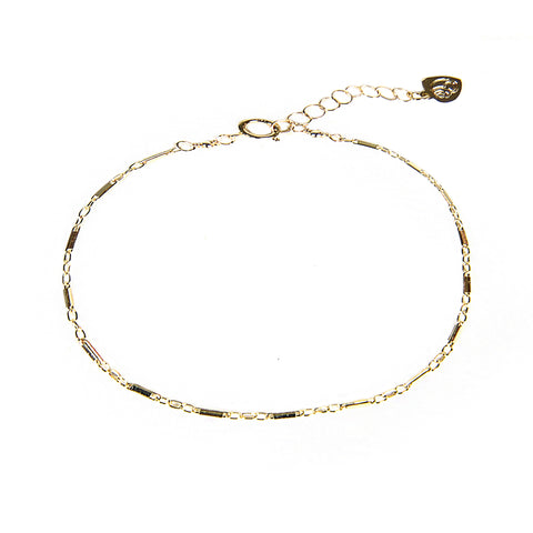 Gold Bar Chain Bracelet