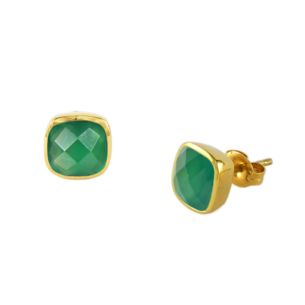Emerald Agate Influence Studs