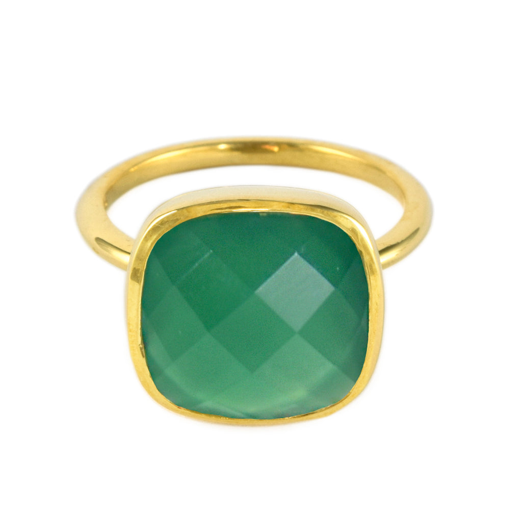 Emerald Agate Influence Ring
