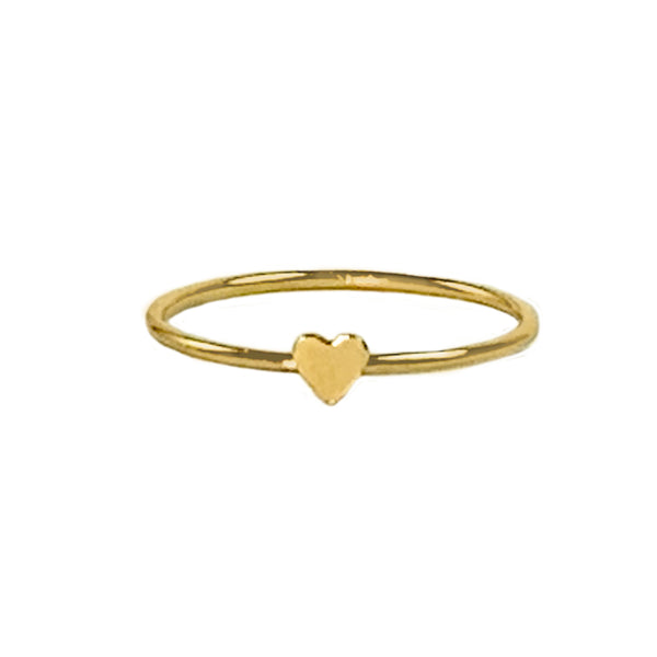Gold Teensy Heart Ring