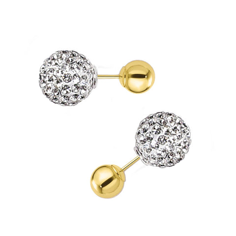 Dagen Crystal Ball Earrings