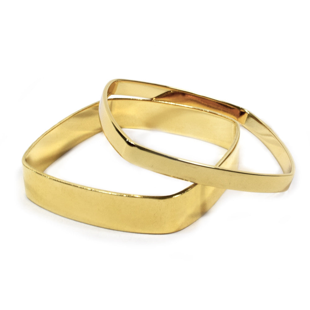 gold bangles bangle estate square yellow