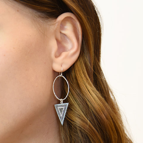 Silver Love Struck Earrings