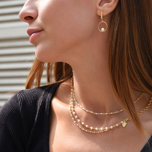 Mixed Pearl Layered Necklace
