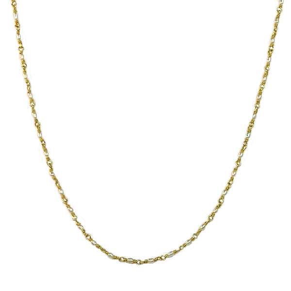 Rice Pearl Chain Necklace