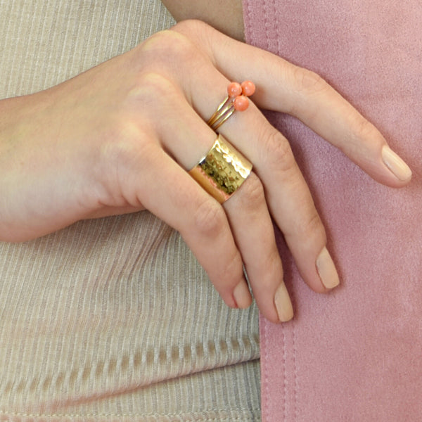 Coral BB Ring