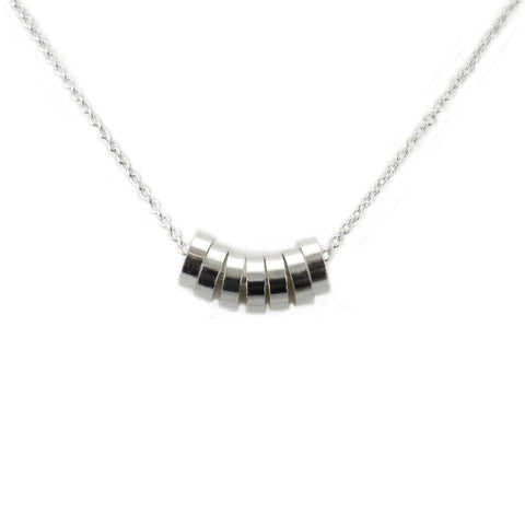 Silver Rondelle Necklace