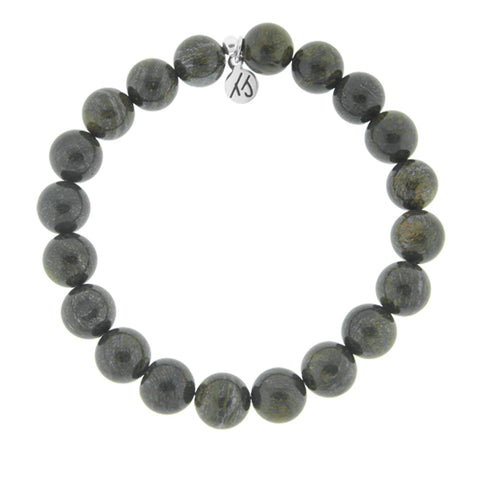 Men's Noble Stone Bracelet Collection - Classic Bronzite Men's Beaded Bracelet