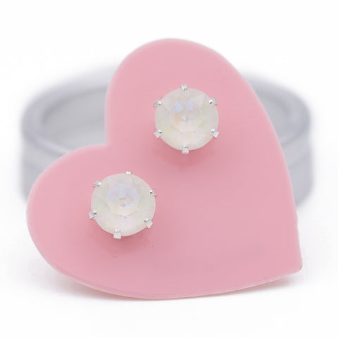 Marshmallow Ultra Mini Bling Earrings