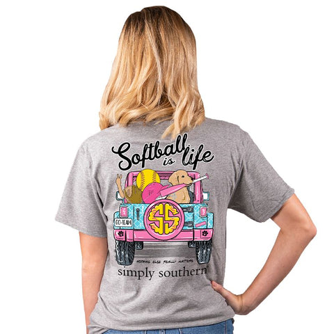 Softball Is Life Short Sleeve Tee