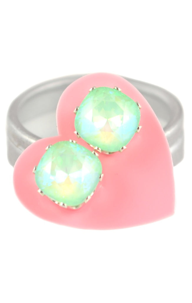 Ultra Mint Cushion Cut Earrings Sterling silver swarovski crystal jewelry spring easter earrings