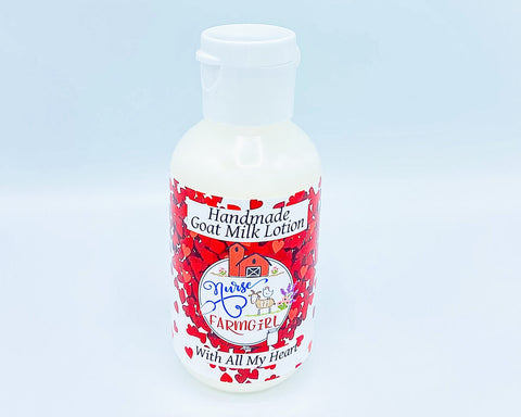 all natural goats milk nurse farm girl with all my heart valentines day lotion