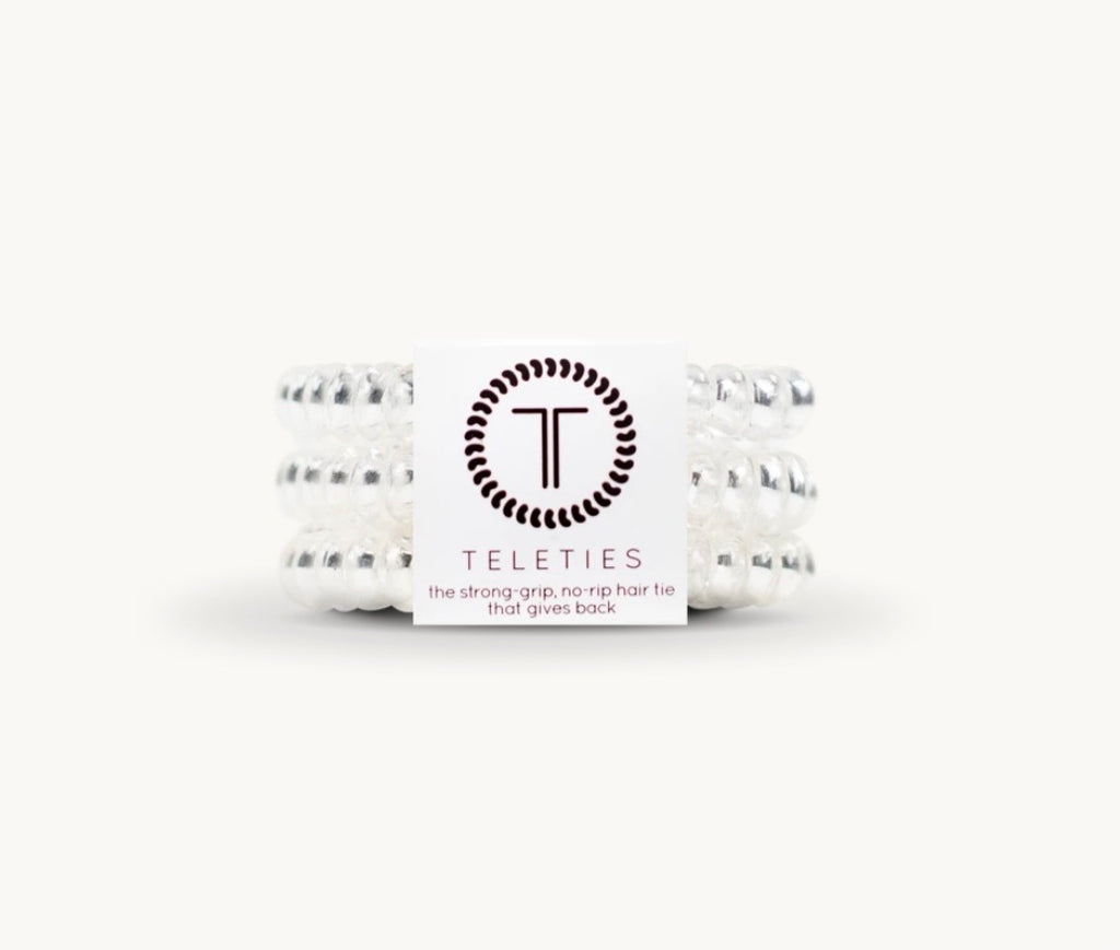 Teleties Crystal Clear Hair ties