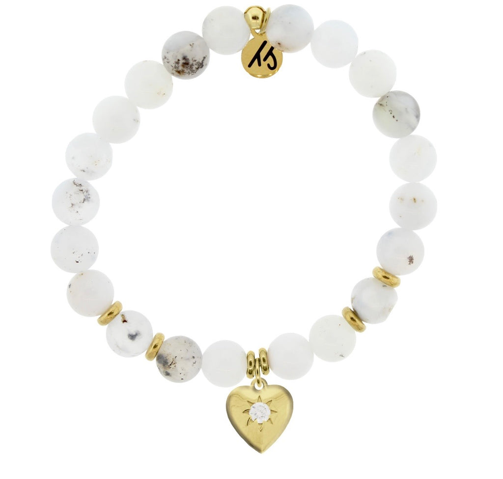 TJazelle Gold Self Love White Chalcedony