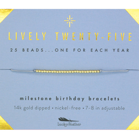 Twenty Fifth Birthday Bracelet