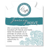 TJ Journey Wave Silver White Chalcedony