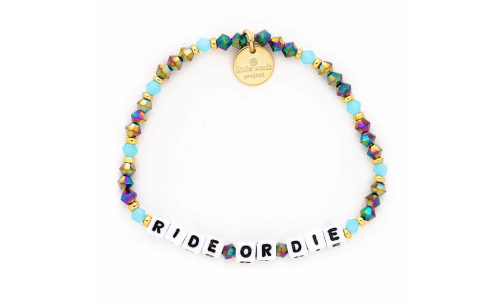 Ride or Die Bracelet Little Words Bracelet Jewelry bracelets best friends bestie