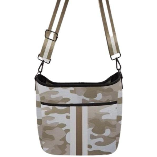 Blake Haute Shore Blake Crossbody Sahara Camo new haute shore gold and white camo neoprene crossbody bag adjustable interchangeable straps