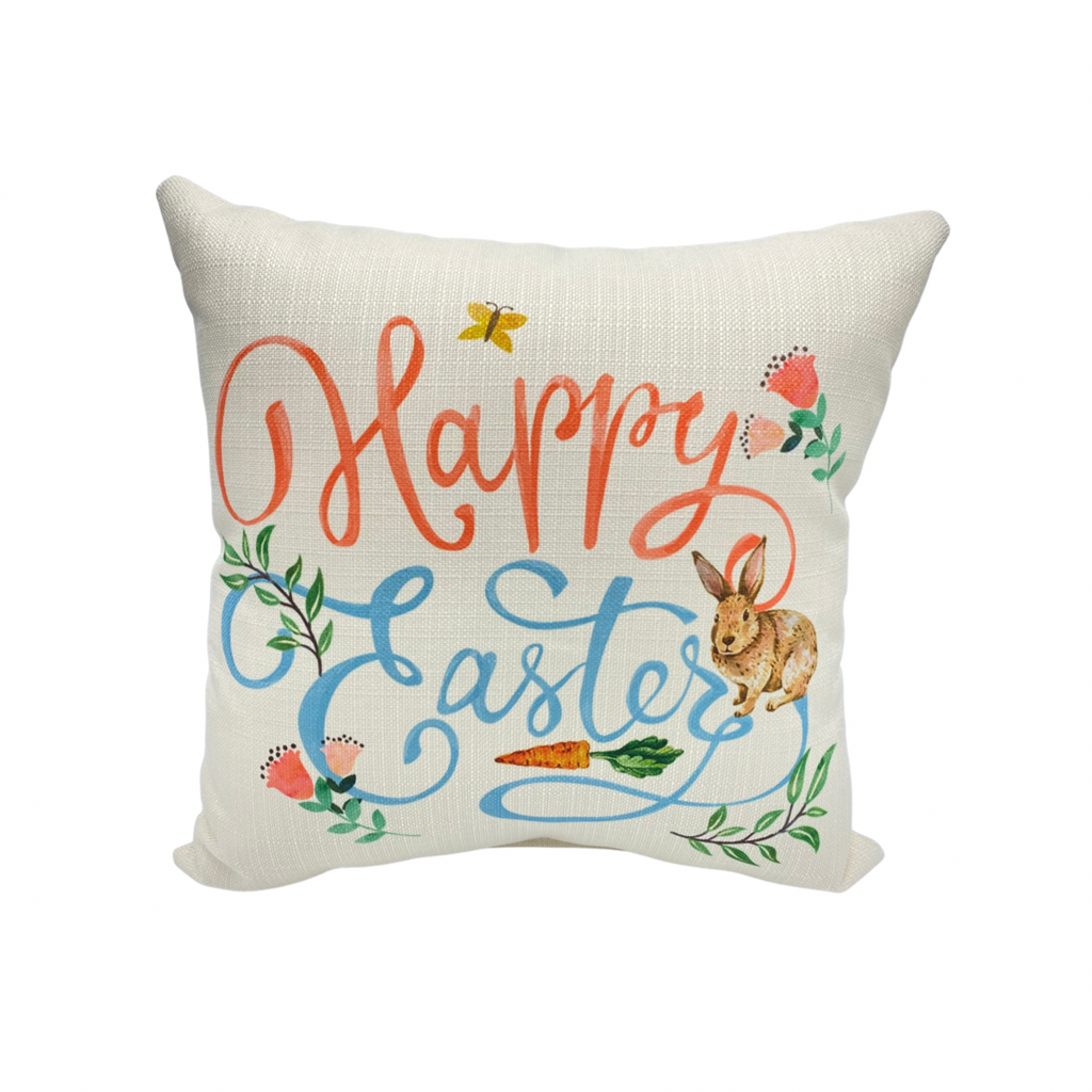 easter bunny pillow home decor pillow pillows machine washable decor little birdie pillow happy easter pillow happy easter spring spring decor