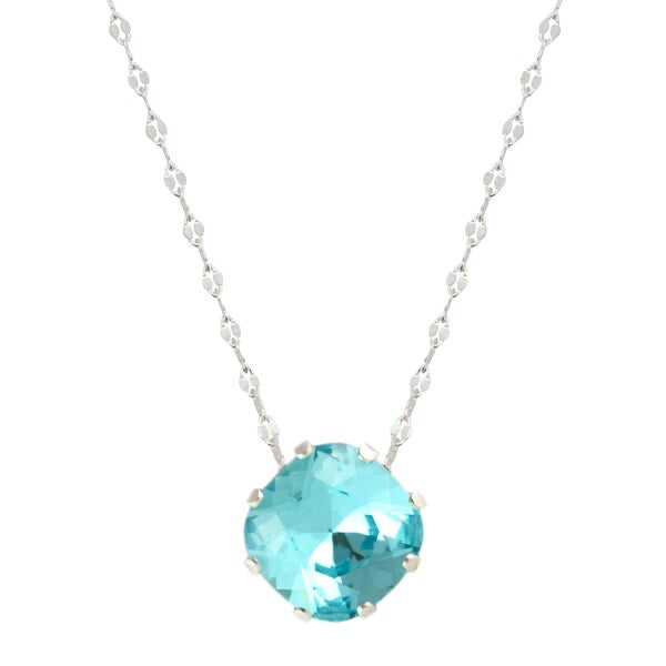 Aqua Bohem Marina Necklace sterling silver swarovski crystal necklace jojo loves you ocean blue sparkle jewelry summer accesories shop shopping