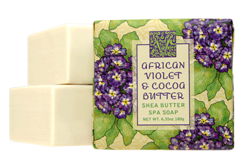 African Violet Small Square Soap