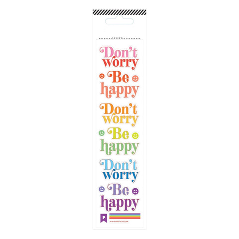 Don't Worry Be Happy Sticker Sheet