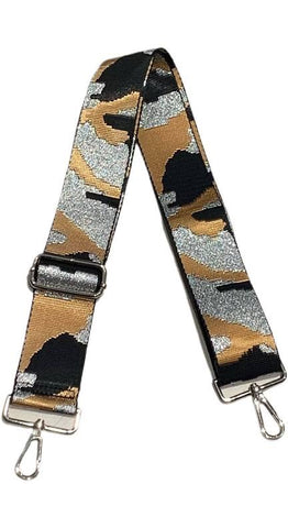 Ahdorned Adjustable Strap Camel Silver Camo