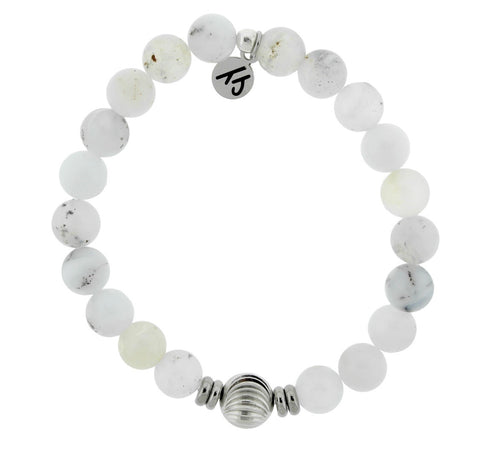 TJazelle new journey wave white chalcedony
