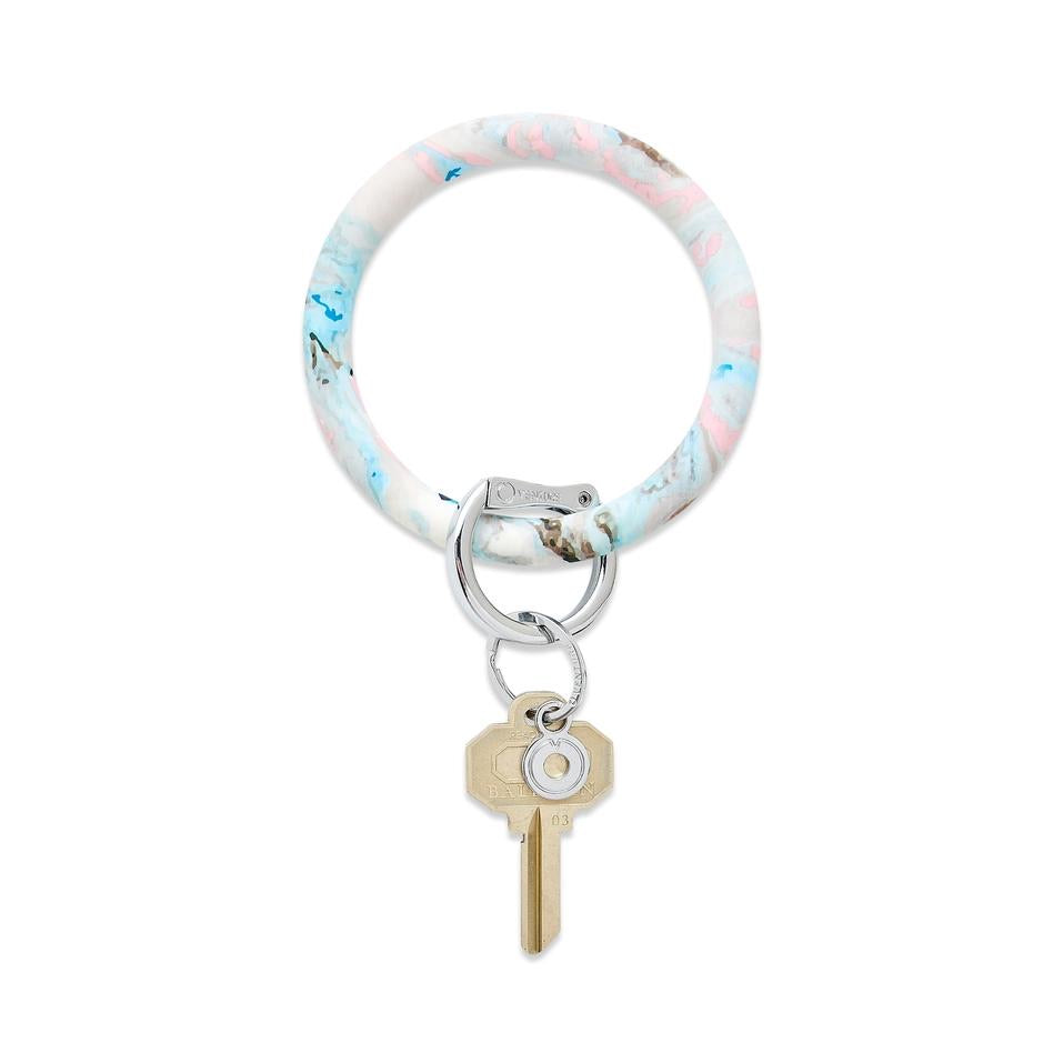 Pastel Marble Big O Key Ring cotton candy oventure o-venture signature silicone big o key ring sweet sixteen sweet 16 gift gifts graduation