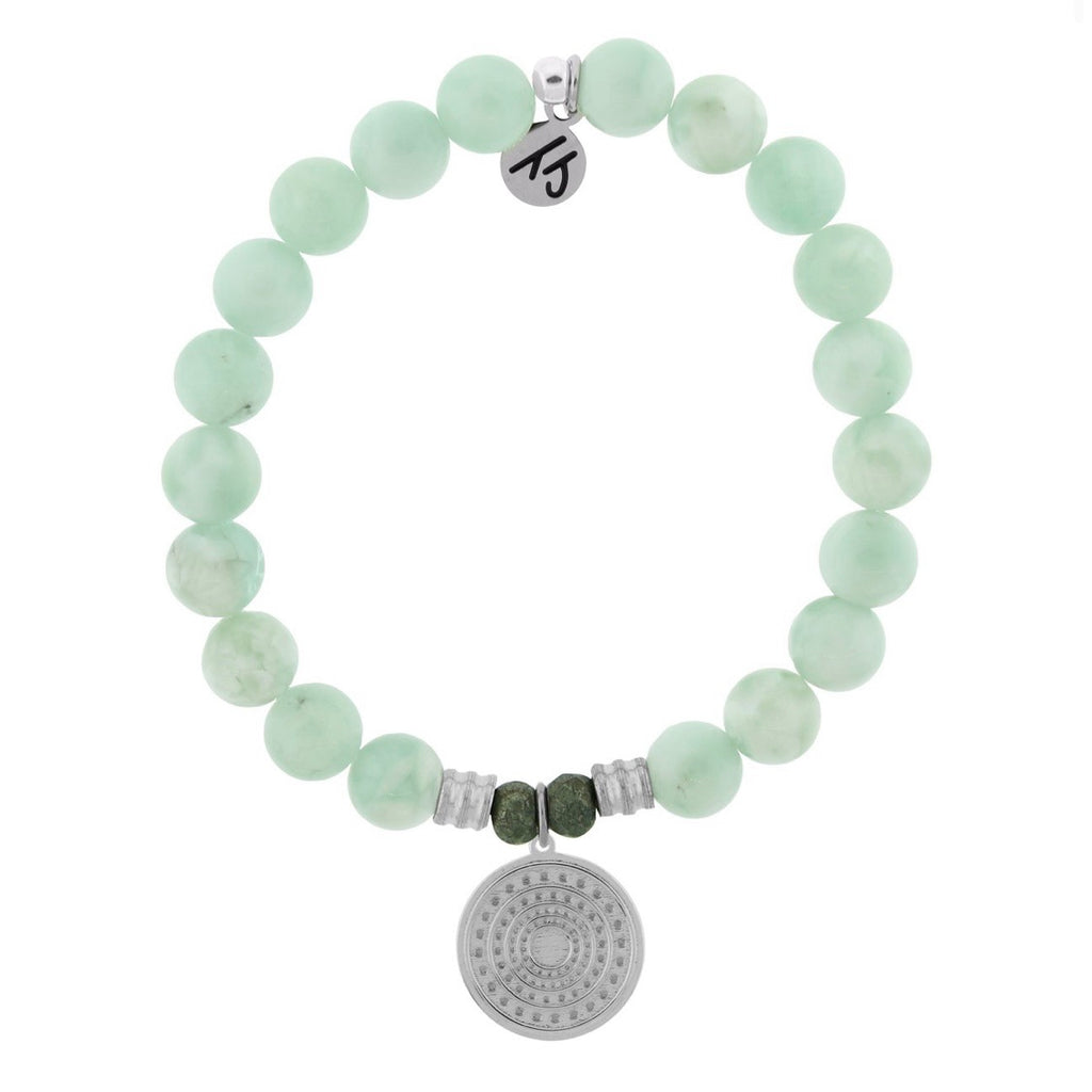 Family Circle Green Angelite Bracelet TJazelle tiffany jazelle T.Jazelle made on cape cod mothers day gift family gift for mom love sterling silver jewelry