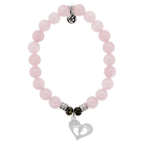 Baby Feet Bracelet Rose Quartz