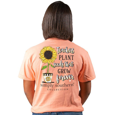 Teachers Plant Seeds that Grow Forever Short Sleeve Tee