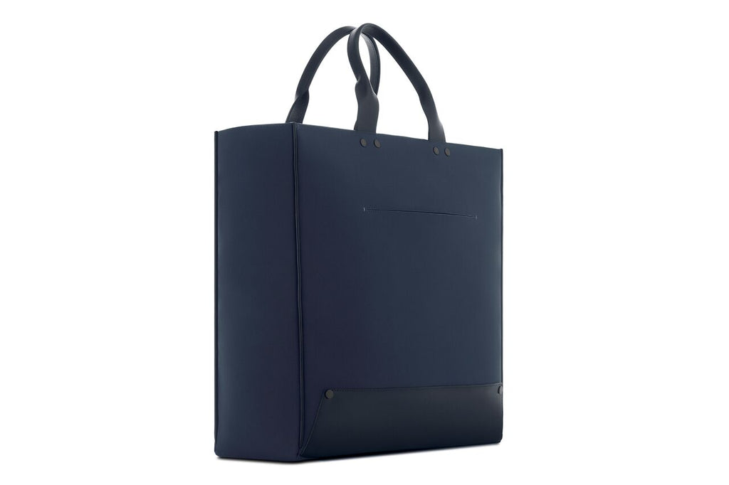 Navy deconstructed tote bag - luxury, minimal