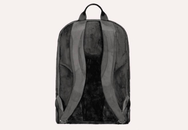 Backpack shoulder pads illustration