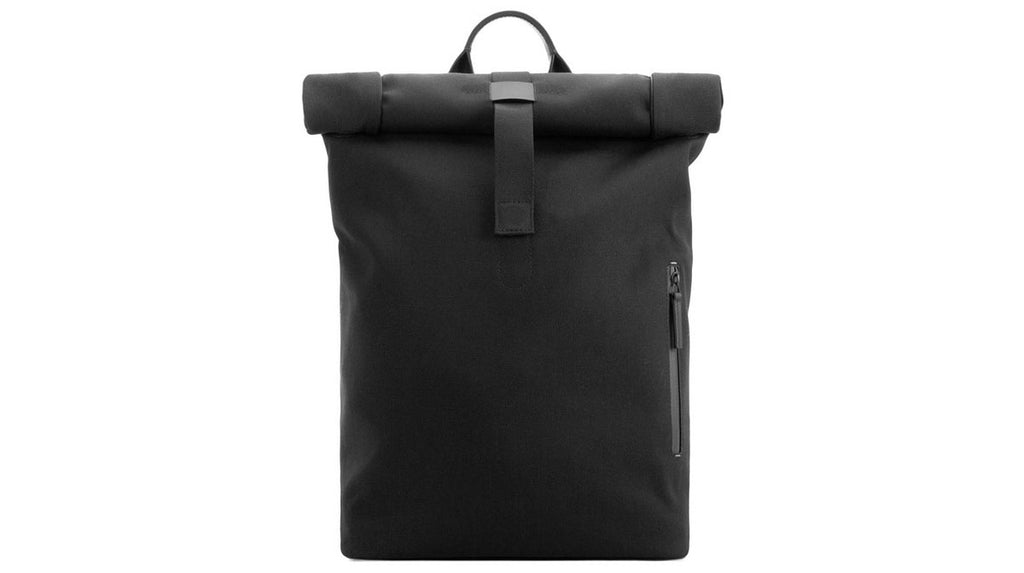 Fabric + Leather Rolltop Rucksack