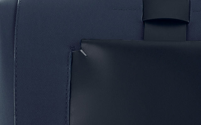 Navy Blue Coated Canvas Material