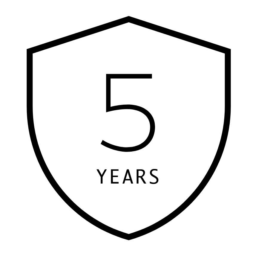Icon Five Year Guarantee