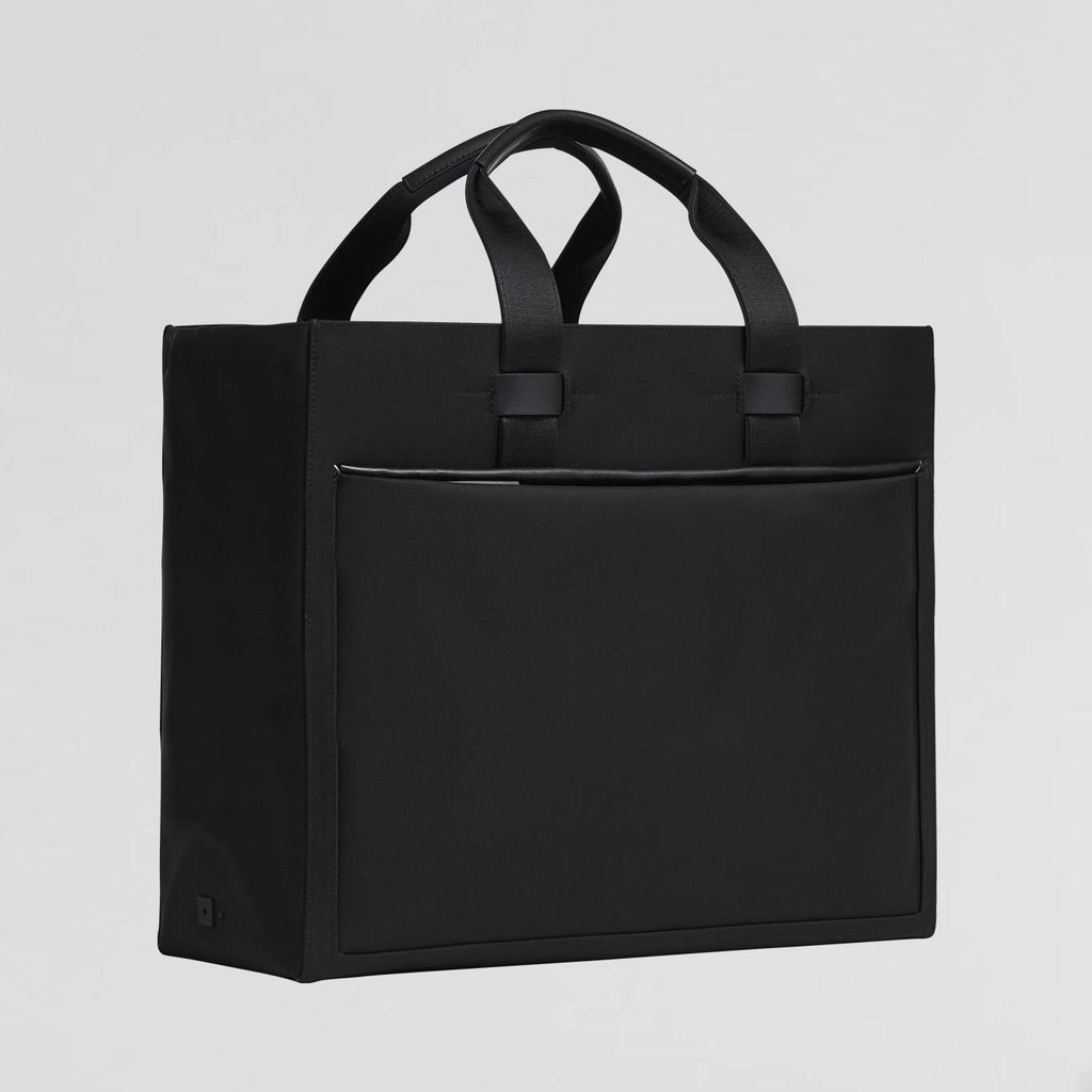 Minimalist and professional black tote bag