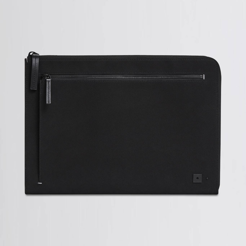 Slim and professional portfolio case for men, in black