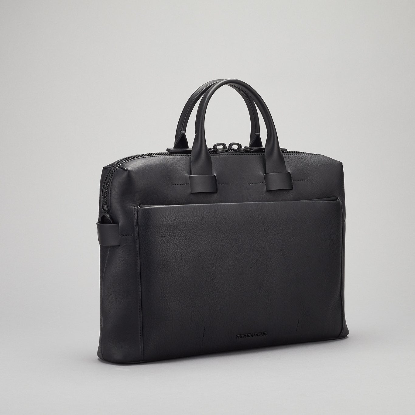 Generation Pathfinder Slim Briefcase made with black leather