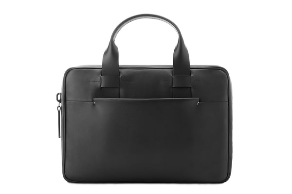 Slim Leather Black Briefcase - High Quality