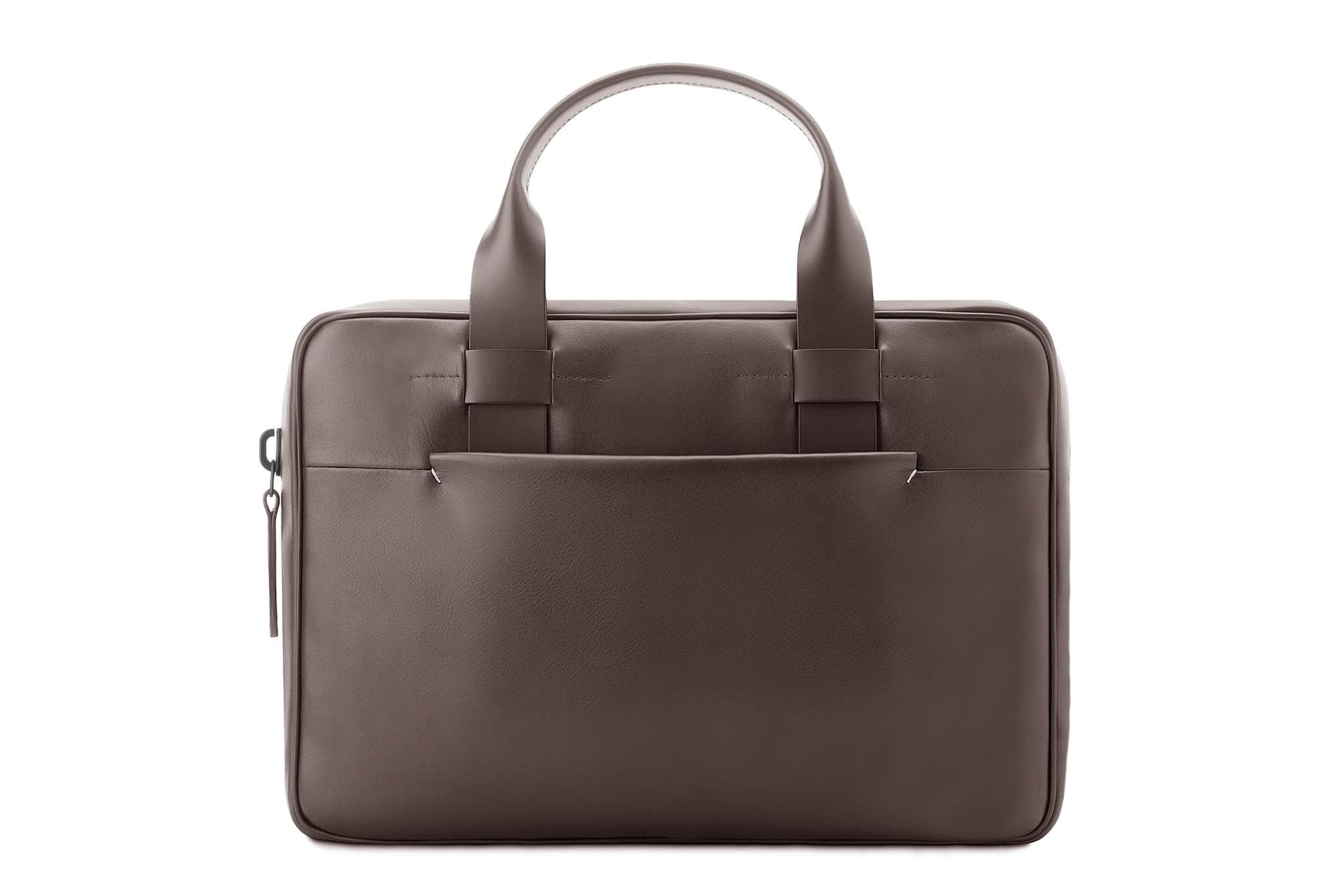 Brown leather briefcase, stylish