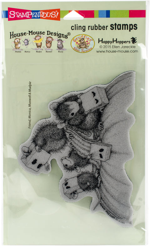 Stampendous House Mouse Cling Stamp -Paper Bag Masks