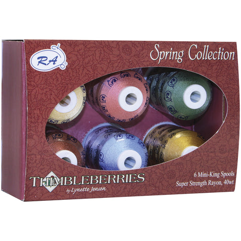 Thimbleberries Rayon Thread Collection 1,100yd 6/Pkg-Spring