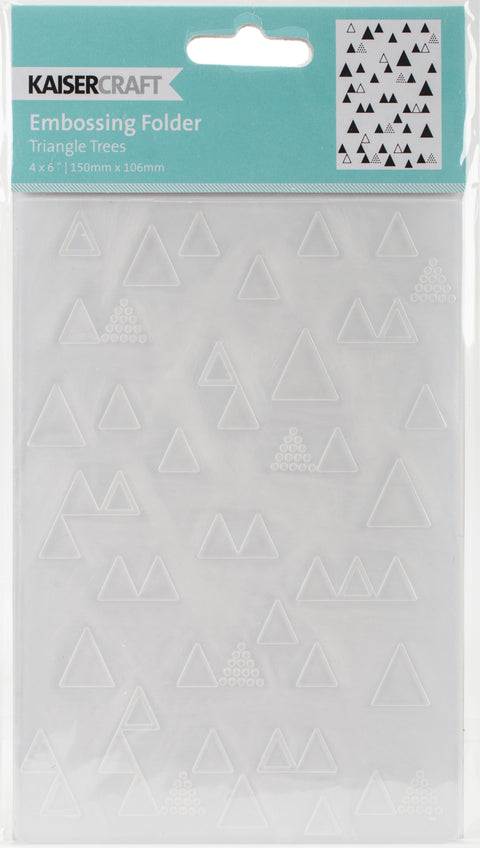 "Kaisercraft Embossing Folder 4""X6""-Triangle Trees"
