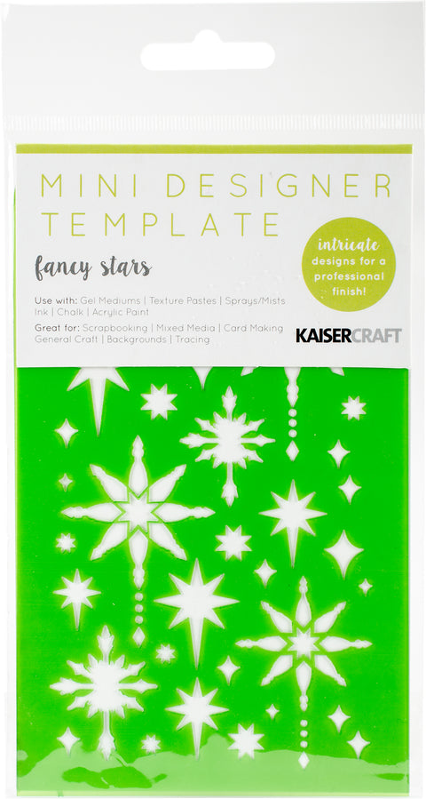 "Kaisercraft Mini Designer Templates 3.5""X5.75""-Fancy Stars"