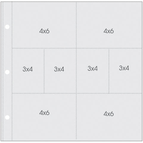 "Sn@p! Pocket Pages For 12""X12"" Binders 10/Pkg-(4) 4""X6"" & (4) 4""X3"" Pockets"