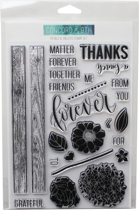 "Concord & 9th Clear Stamps 6""X8""-Petals & Pallets"