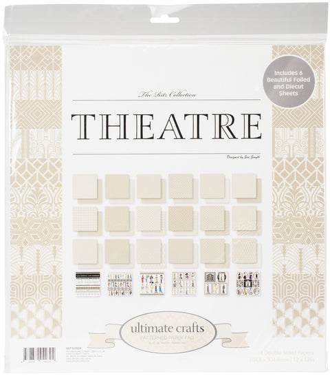 "Ultimate Crafts Double-Sided Paper Pad 12""X12"" 24/Pkg-The Ritz Theatre"