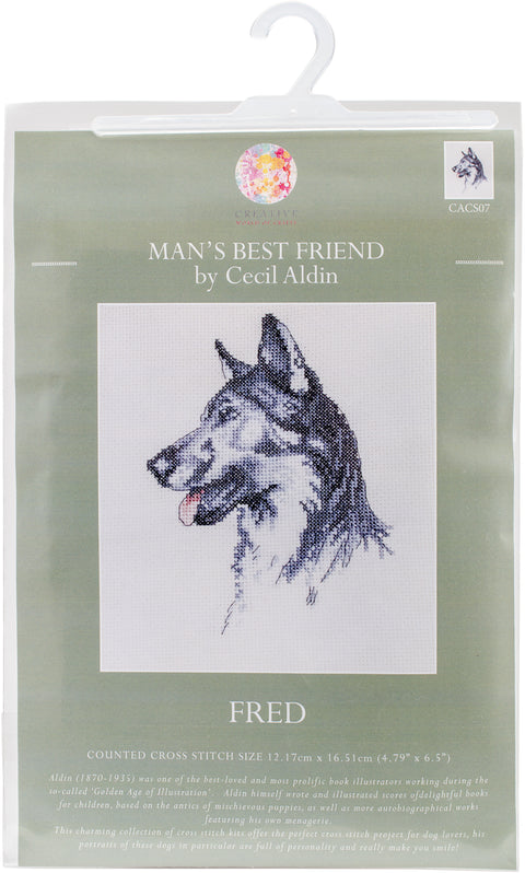 "CWOC/Cecil Aldin Counted Cross Stitch Kit 4.75""X6.5""-Fred"
